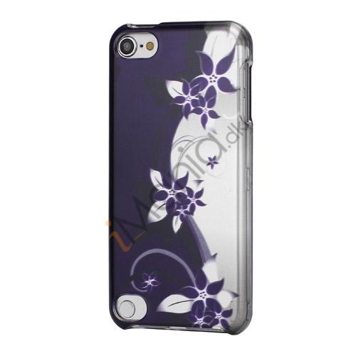 S-formet Lilla Blomst 2 i 1 Snap-On Hard Back Shell Cover til iPod Touch 5