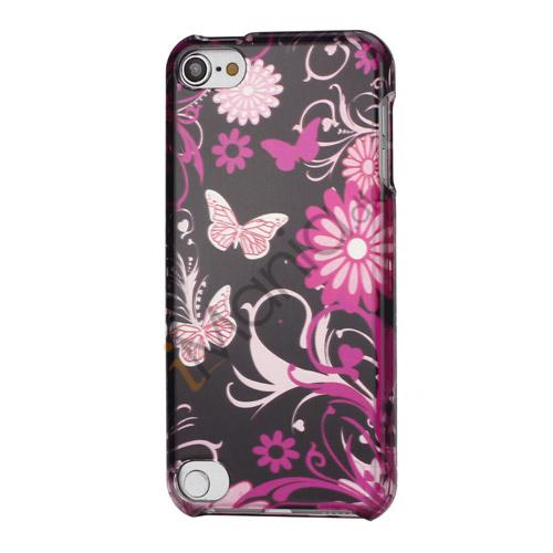 Sommerfugle og blomster Snap-On 2 i 1 Hard Case Cover til iPod Touch 5