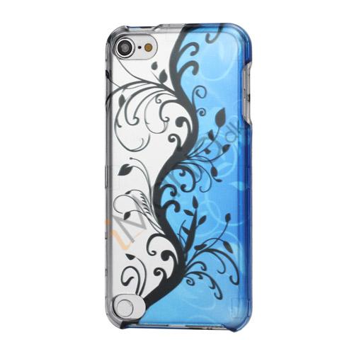 Sølv og blå Flora Smooth Snap-On Hard Skin Etui til iPod Touch 5