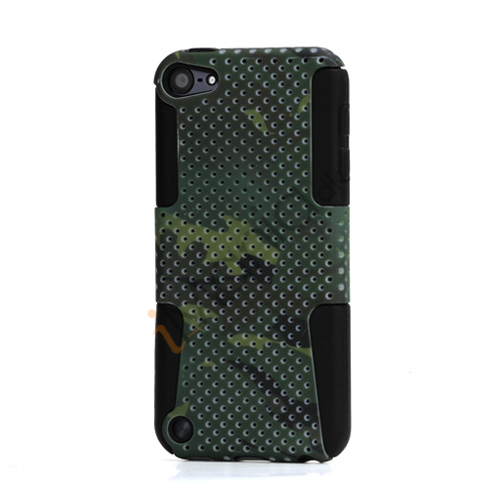 Image of   Camouflage Hybrid Gitter Silicone Hard Plastic Cover Case til iPod Touch 5