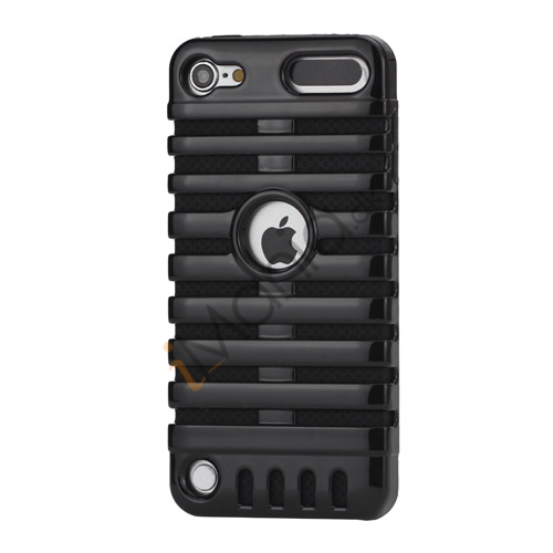 Klassisk mikrofon PC  and  Silikone Hybrid Hard Case til iPod Touch 5 - Sort