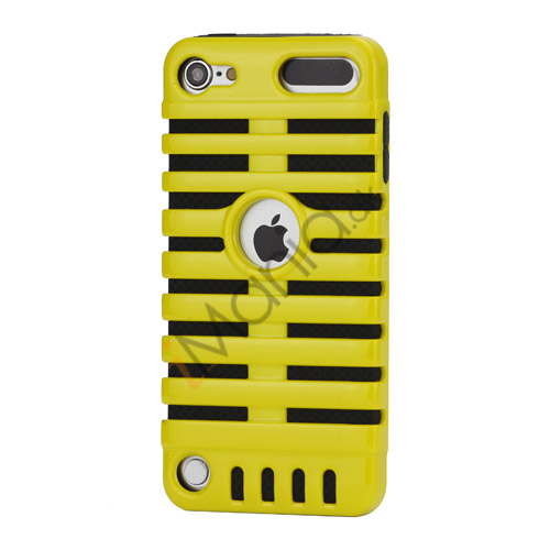Klassisk mikrofon PC  and  Silikone Hybrid Hard Case til iPod Touch 5 - Sort / Gul