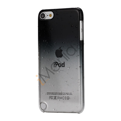 Cover med gradvist farveskift og regndråber Hard Case til iPod Touch 5 - Sort
