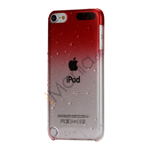 Image of   Cover med gradvist farveskift og regndråber Hard Case til iPod Touch 5 - Rød