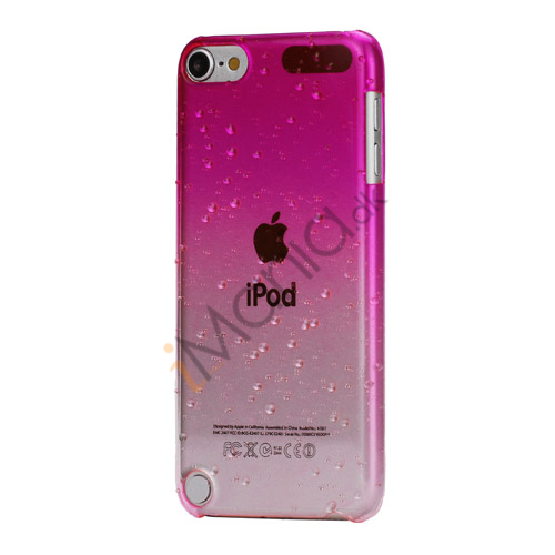 Cover med gradvist farveskift og regndråber Hard Case til iPod Touch 5 - Rose