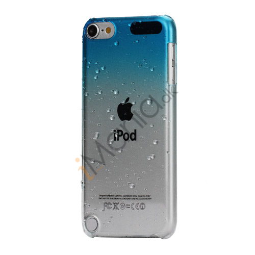 Image of   Cover med gradvist farveskift og regndråber Hard Case til iPod Touch 5 - Lyseblå