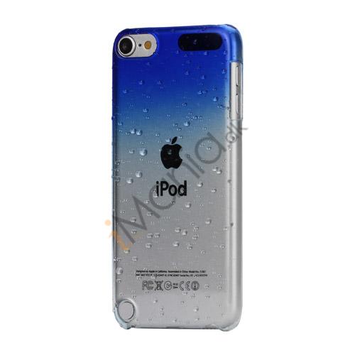 Cover med gradvist farveskift og regndråber Hard Case til iPod Touch 5 - Mørkeblå