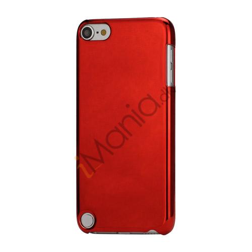 Spejleffekt Galvaniseret Blankt Hard Case Cover til iPod Touch 5 - Rød