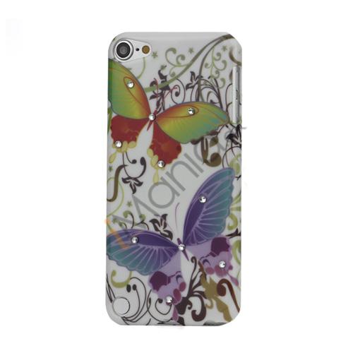 Farverigt Sommerfugl Diamant Smooth hård plast tilfældet til iPod Touch 5