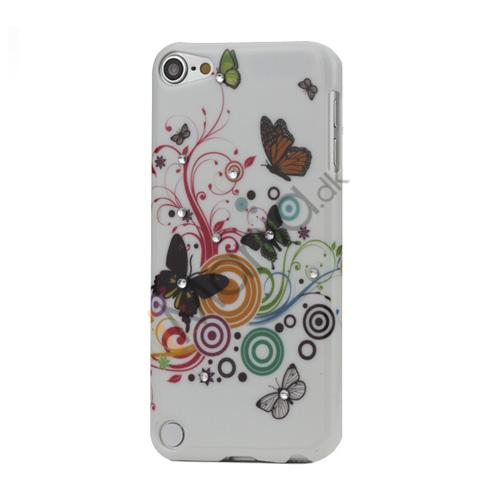 Cirkler og Sommerfugl Diamant Smooth hård plast taske til iPod Touch 5