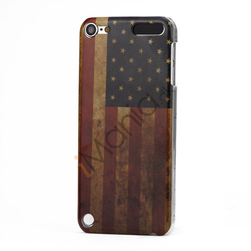 Vintage American National Flag Blankt hård plast tilfældet til iPod Touch 5