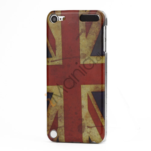 Retro Union Jack Flag Blankt Hard Case Cover til iPod Touch 5