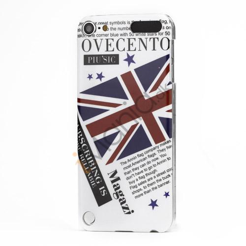 Union Jack Flag Smooth hård plast tilfældet til iPod Touch 5