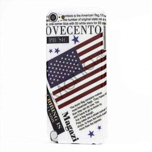 USA American Flag hård plast tilfældet til iPod Touch 5