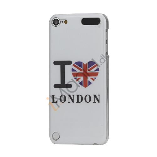 I Love London Mønster Blankt hård plast tilfældet til iPod Touch 5