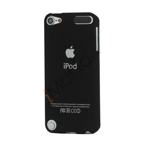 Slim Gummibelagt Beskyttende Hard Case med Apple iPod Logo til iPod Touch 5 - Sort