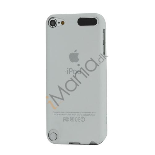 Slim Gummibelagt Beskyttende Hard Case med Apple iPod Logo til iPod Touch 5 - Hvid