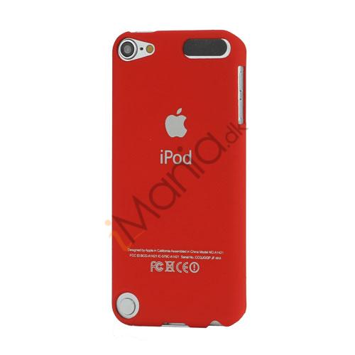 Slim Gummibelagt Beskyttende Hard Case med Apple iPod Logo til iPod Touch 5 - Rød