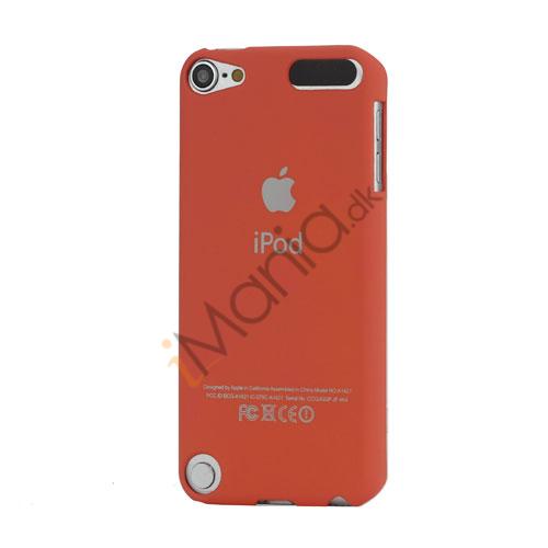 Slim Gummibelagt Beskyttende Hard Case med Apple iPod Logo til iPod Touch 5 - Watermelon Rød