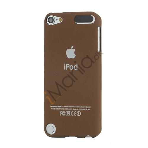Slim Gummi Beskyttende Hard Case med Apple iPod Logo til iPod Touch 5 - Brown