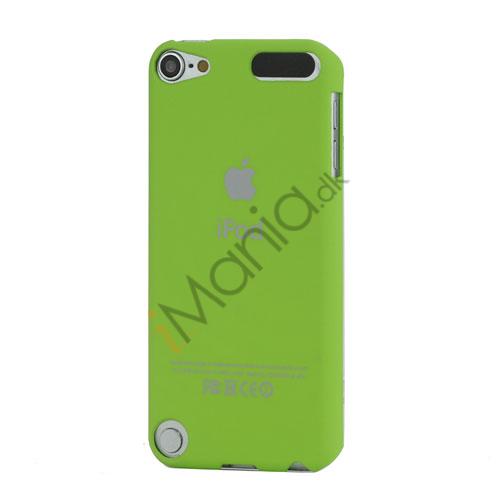 Slim Gummibelagt Beskyttende Hard Case med Apple iPod Logo til iPod Touch 5 - Grøn