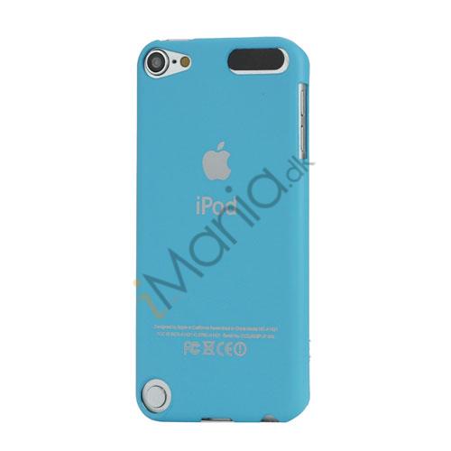 Slim Gummi Beskyttende Hard Case med Apple iPod Logo til iPod Touch 5 - Baby Blue