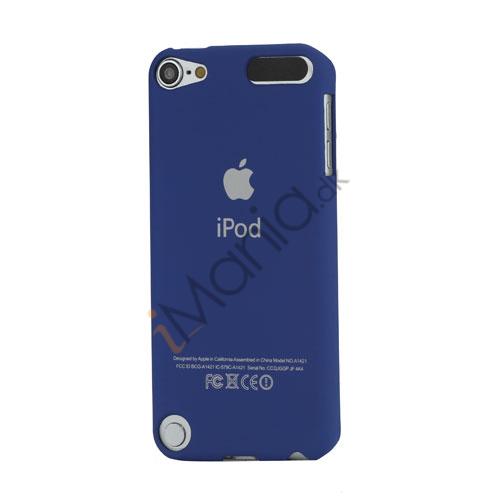 Slim Gummibelagt Beskyttende Hard Case med Apple iPod Logo til iPod Touch 5 - Mørkeblå