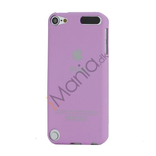 Slim Gummibelagt Beskyttende Hard Case med Apple iPod Logo til iPod Touch 5 - Purple