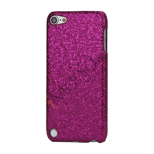 Image of   Bling Pailletter Beskyttende Hard Case Cover til iPod Touch 5 - Rose