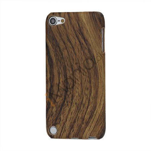 Image of   Wave Wood Grain Læderbelagt Beskyttende Hard Case til iPod Touch 5