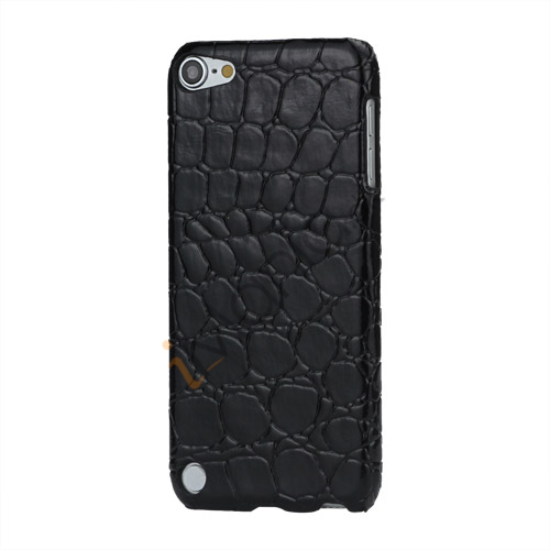 Image of   Crocodile Læder Skin Beskyttende Hard Case til iPod Touch 5 - Sort