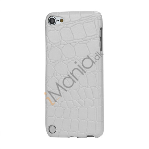Image of   Crocodile Læder Skin Beskyttende Hard Case til iPod Touch 5 - Hvid