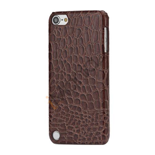 Moderigtigt Blankt Crocodile Læder Skin Hard Case til iPod Touch 5 - Chestnut Brown