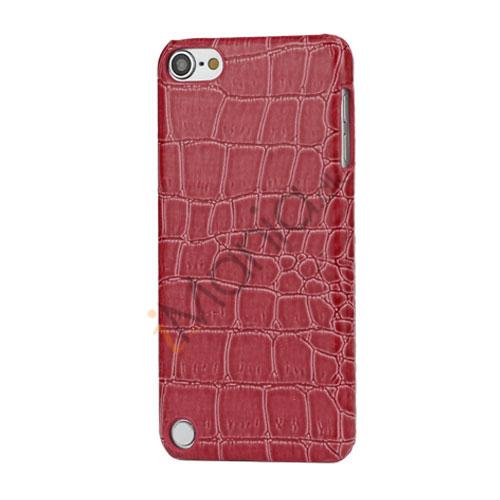 Moderigtigt Blankt Crocodile Læder Skin Hard Case til iPod Touch 5 - Rose