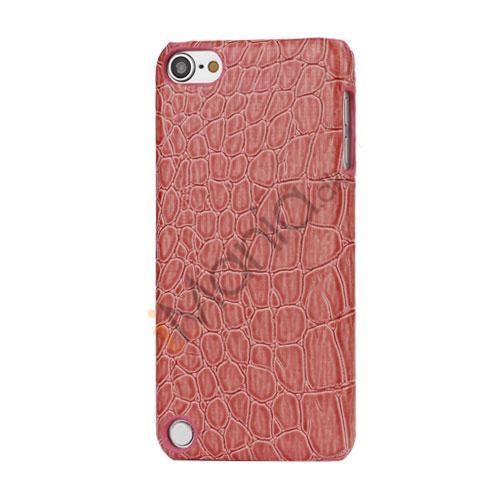 Billede af Moderigtigt Blankt Crocodile Læder Skin Hard Case til iPod Touch 5 - Watermelon Rød