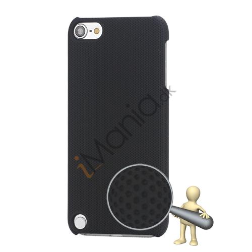 Stærk Hard Gitter Net Skin Case Cover til iPod Touch 5 - Sort