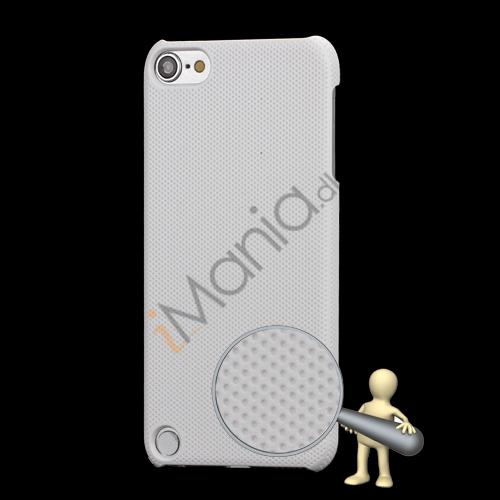 Stærk Hard Gitter Net Skin Case Cover til iPod Touch 5 - Hvid