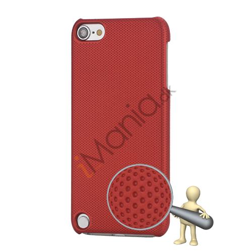 Stærk Hard Gitter Net Skin Case Cover til iPod Touch 5 - Rød