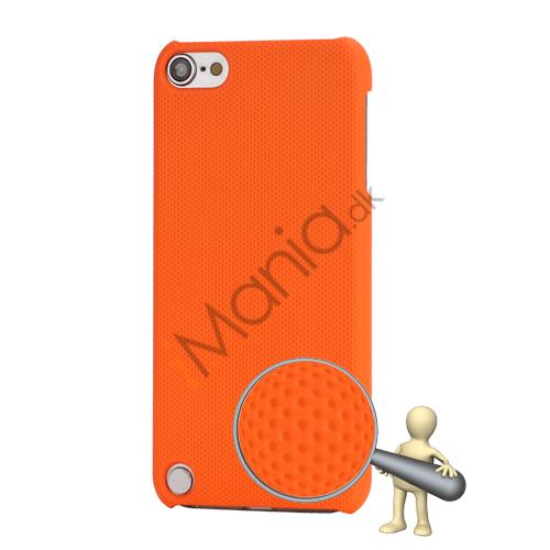 Stærk Hard Gitter Net Skin Case Cover til iPod Touch 5 - Orange