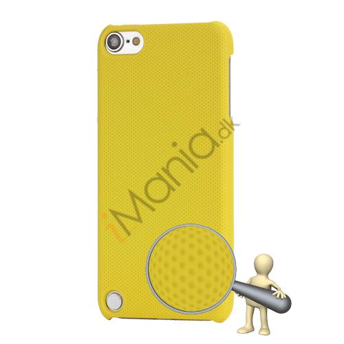Stærk Hard Gitter Net Skin Case Cover til iPod Touch 5 - Gul