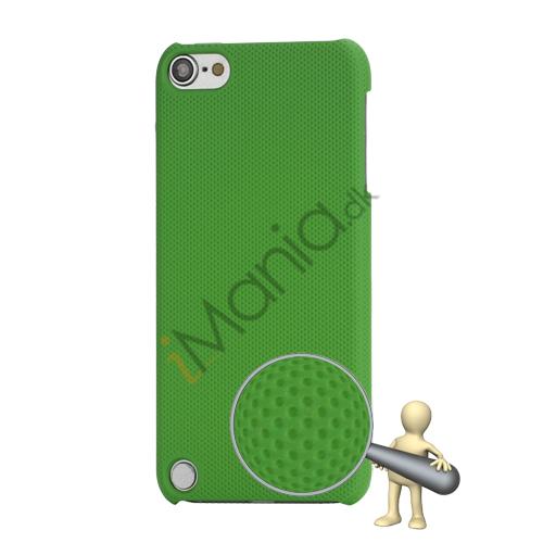 Stærk Hard Gitter Net Skin Case Cover til iPod Touch 5 - Grøn