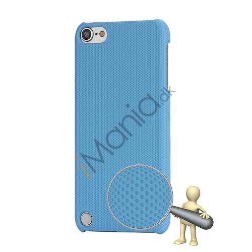 Stærk Hard Gitter Net Skin Case Cover til iPod Touch 5 - Lyseblå