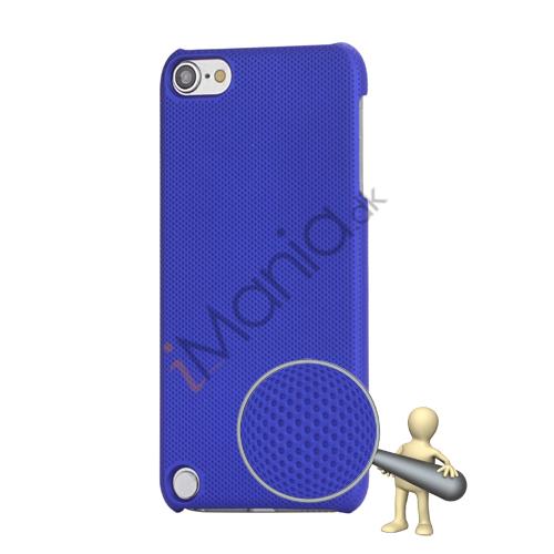 Stærk Hard Gitter Net Skin Case Cover til iPod Touch 5 - Mørkeblå