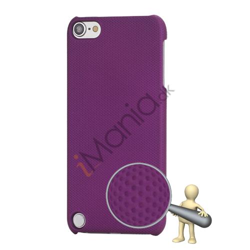Stærk Hard Gitter Net Skin Case Cover til iPod Touch 5 - Purple