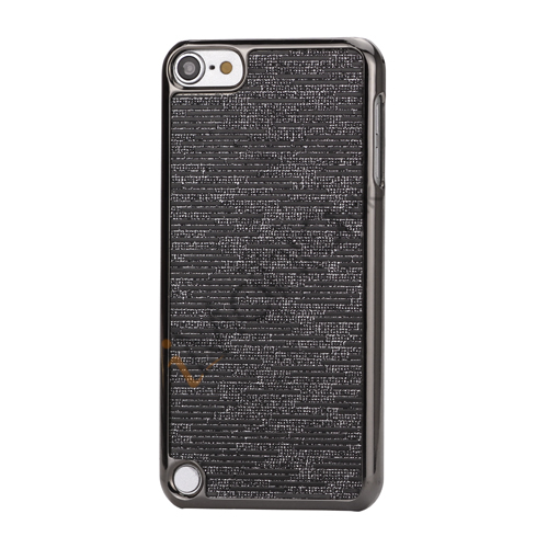Image of   Bling Vandret Striber Galvaniseret Hard Beskyttelses Case til iPod Touch 5 - Sort