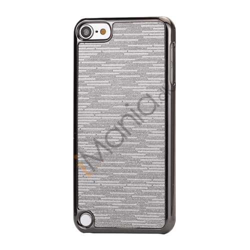Image of   Bling Vandret Striber Galvaniseret Hard Beskyttelses Case til iPod Touch 5 - Grå