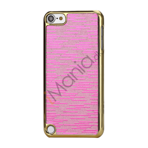 Image of   Bling Vandret Striber Galvaniseret Hard Beskyttelses Case til iPod Touch 5 - Rose
