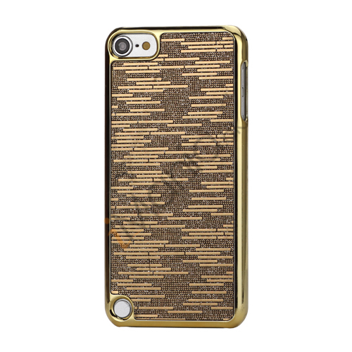 Image of   Bling Vandret Striber Galvaniseret Hard Beskyttelses Case til iPod Touch 5 - Brown