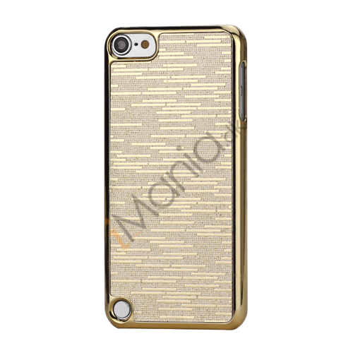 Billede af Bling Vandret Striber Galvaniseret Hard Beskyttelses Case til iPod Touch 5 - Guld