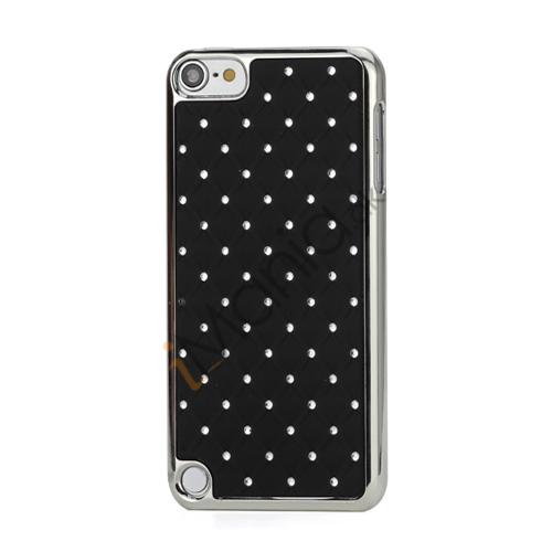 Superb  Diamant Galvaniseret Hard Case til iPod Touch 5 - Sort